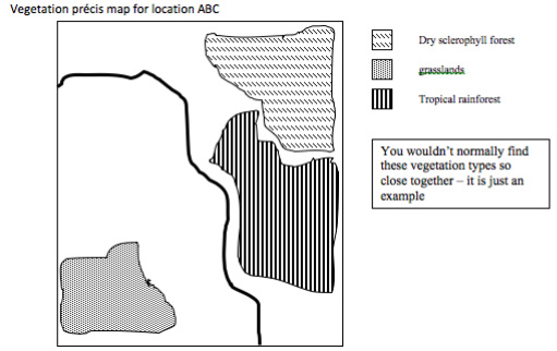 Task: Examine a topographic map of an area you have studied. Create a ...